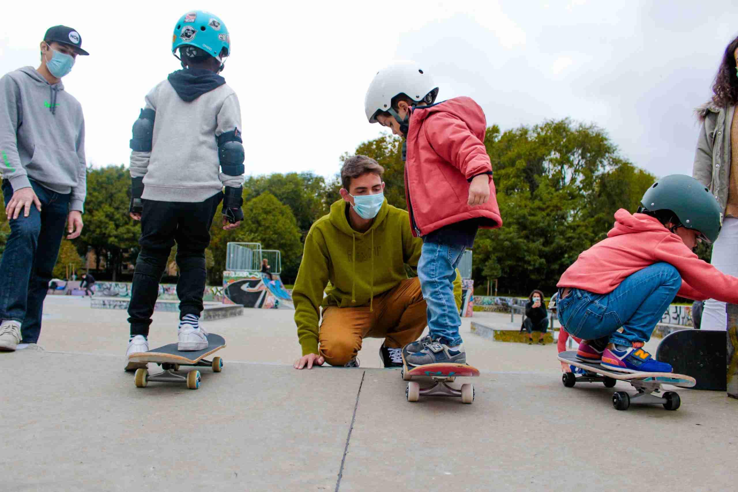 Lezione di skateboard